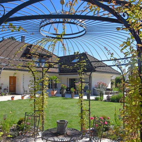 gartensitzplatz, aussensitzplatz, pergola, gartenpavillon, Garten und erstellen